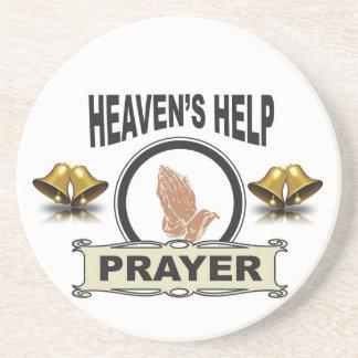 Porta-copos mãos da ajuda e da oração