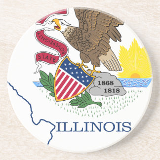 Porta-copos Mapa da bandeira de Illinois