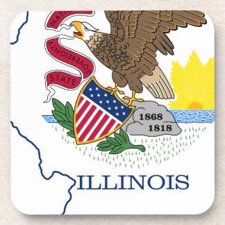 Porta Copos Mapa da bandeira de Illinois