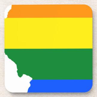 Porta-copos Mapa da bandeira de Illinois LGBT