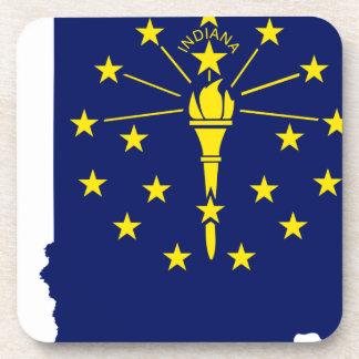 Porta Copos Mapa da bandeira de Indiana