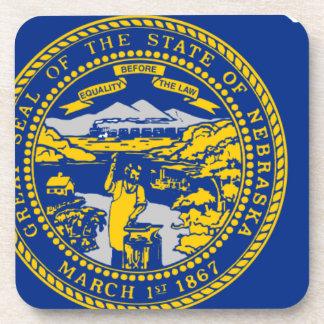 Porta-copos Mapa da bandeira de Nebraska