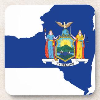 Porta Copos Mapa da bandeira de New York