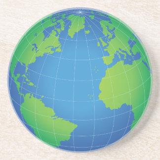 Porta-copos Mapa do globo do mundo