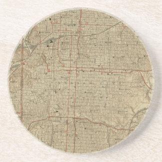 Porta-copos Mapa do vintage de Kansas City Missouri (1935)