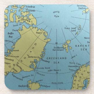 Porta Copos Mapa do vintage do Pólo Norte