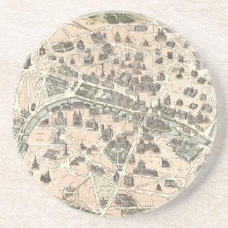 Porta-copos Mapa monumental de Nouveau Paris