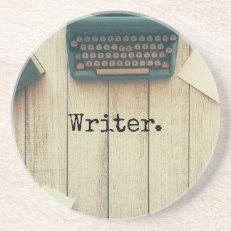 Porta-copos Máquina de escrever retro da mesa de escrita do