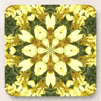 Porta-copos margaridas abstratas florais amarelas do design