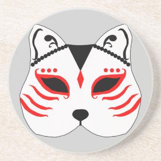 Porta-copos Máscara japonesa do gato