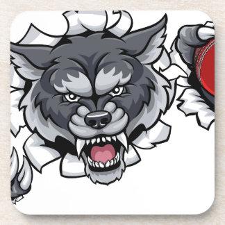 Porta Copos Mascote do grilo do lobo que quebra o fundo