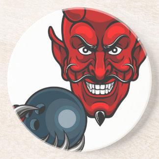Porta-copos Mascote dos esportes da boliche do diabo