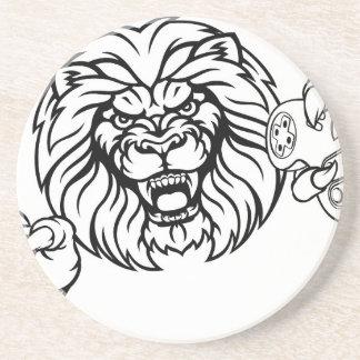 Porta-copos Mascote irritada de Esports do leão