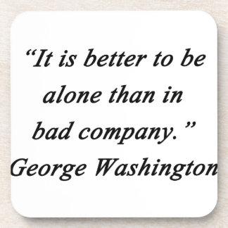 Porta-copos Mau Empresa - George Washington