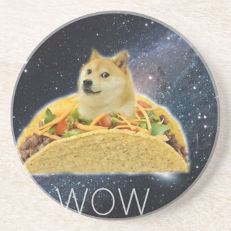 Porta-copos meme do taco do espaço do doge