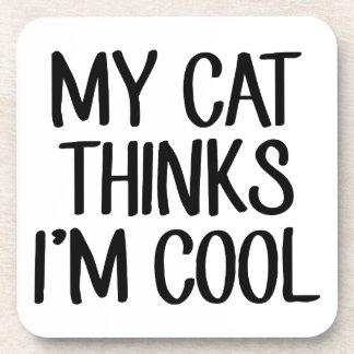 Porta-copos Meu gato pensa que eu sou legal