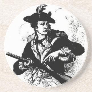 Porta-copos Minuteman revolucionário da guerra com arma