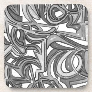 Porta-copos Na Bush-Mão arte abstracta pintada