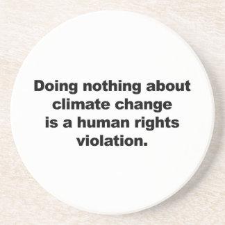 Porta-copos Não fazendo nada sobre alterações climáticas