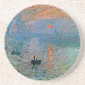 Porta-copos Nascer do sol da impressão por Claude Monet