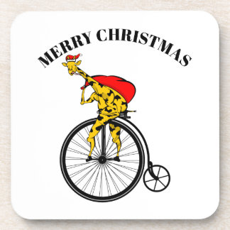 Porta Copos Natal de Papai Noel do girafa
