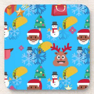 Porta Copos Natal preto do taco do papai noel