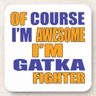 Porta-copos Naturalmente eu sou lutador de Gatka