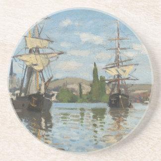 Porta-copos Navios de Claude Monet que montam no Seine em