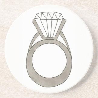 Porta-copos Noiva do Fashionista de Bling do anel de noivado