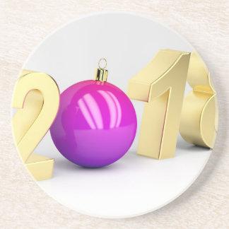 Porta-copos Número 2018 com bola do Natal