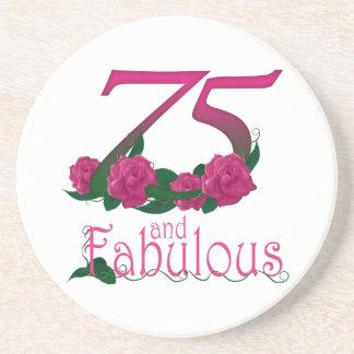 Porta-copos número floral cor-de-rosa fabuloso da idade do