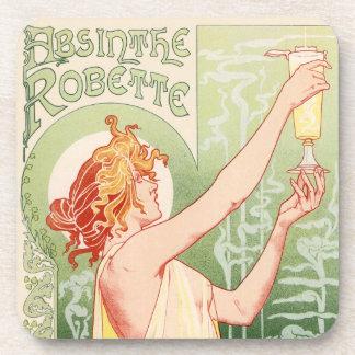 Porta Copos O absinto Robette - poster vintage do álcool