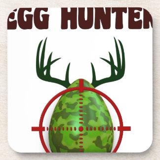 Porta-copos O caçador perito da páscoa, cervo do ovo visa o