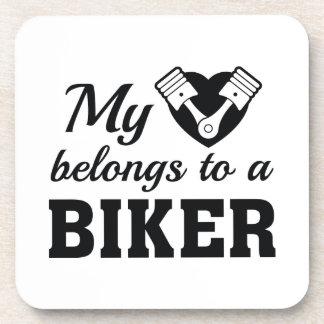 Porta-copos O coração pertence motociclista