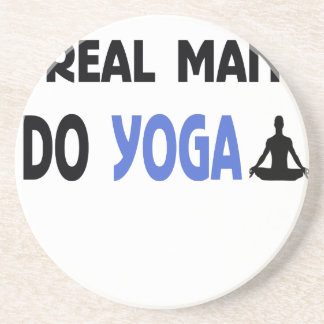 Porta-copos o homem real faz a ioga