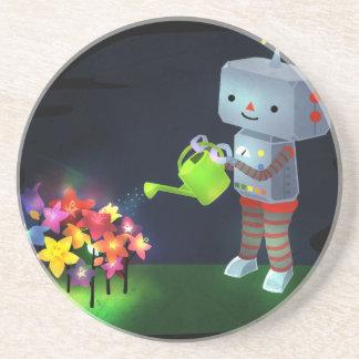 Porta-copos O jardim do robô