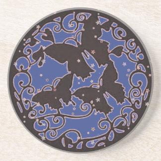 Porta-copos O metal gosta da borboleta azul