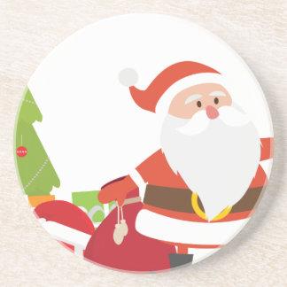 Porta-copos O Natal Papai Noel apresenta a presente desenhos