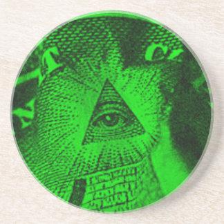 Porta-copos O olho de Illuminati