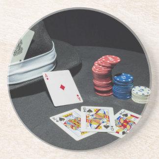 Porta-copos O póquer carda o chapéu do gângster