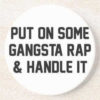 Porta-copos O rap de Gangsta & segura-o