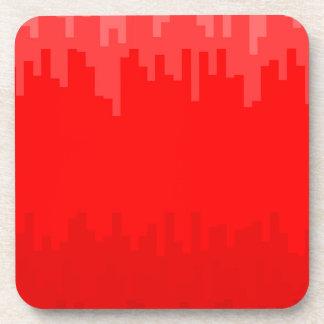 Porta-copos O vermelho desvanece-se fundo