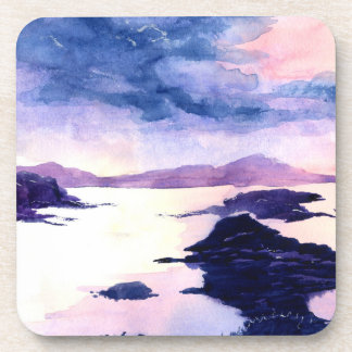 Porta Copos O Watercolour roxo de Loch Lomond pintou o grupo