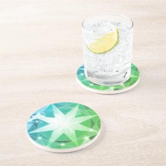 Porta-copos Olhar do cristal de rocha do compasso de pedra