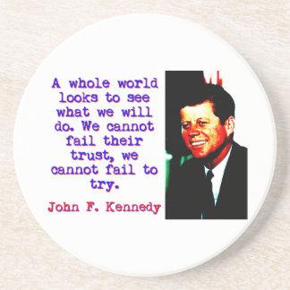 Porta-copos Olhares inteiros de um mundo - John Kennedy