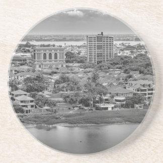 Porta-copos Opinião aérea de Guayaquil do plano da janela