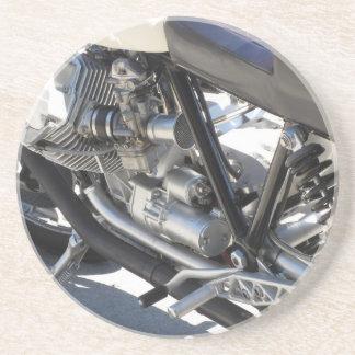 Porta-copos Opinião lateral cromada motocicleta do detalhe do