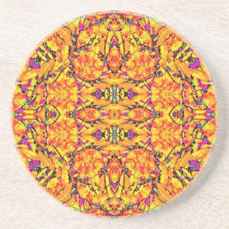 Porta-copos Ornamentado vibrante colorido