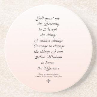Porta-copos Ornamento minúsculo um do roteiro da oração da