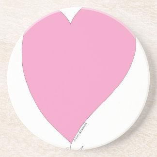 Porta-copos os corações cor-de-rosa